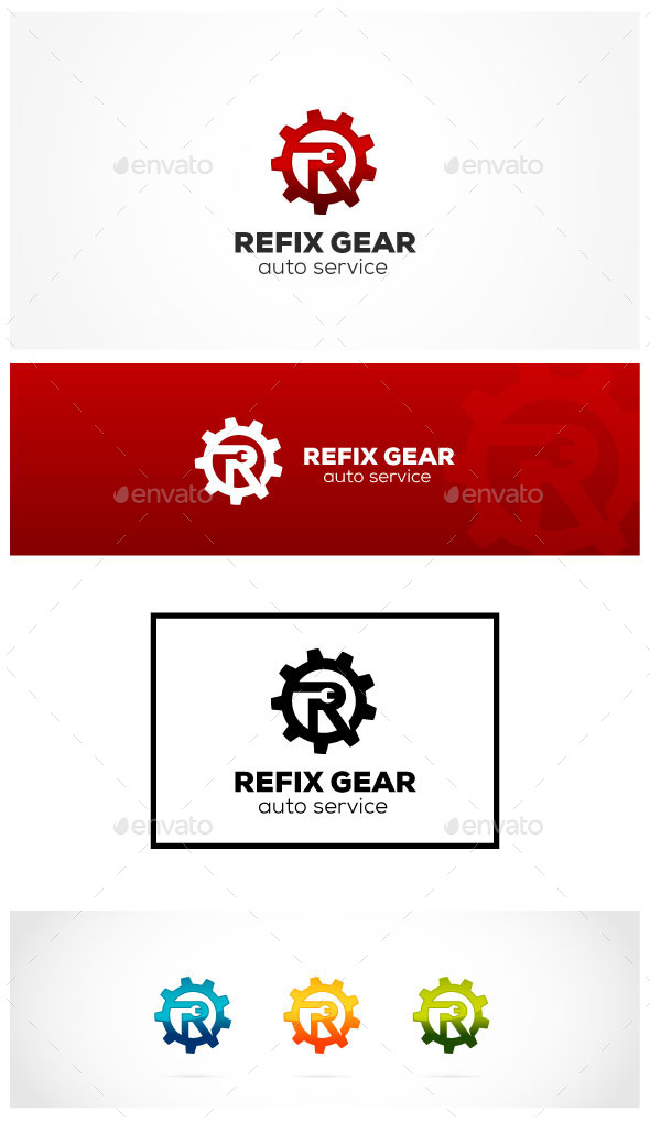 Repair Gear - Letters Logo Templates