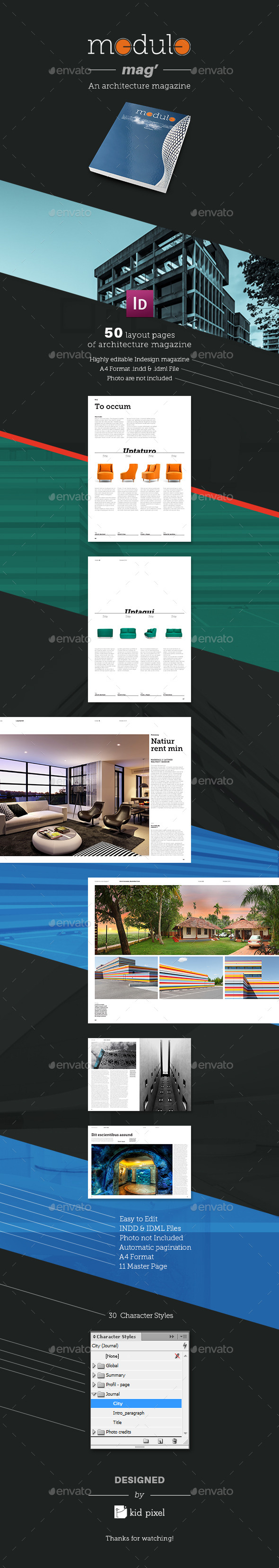 Modulo Mag - An architecture magazine - Magazines Print Templates