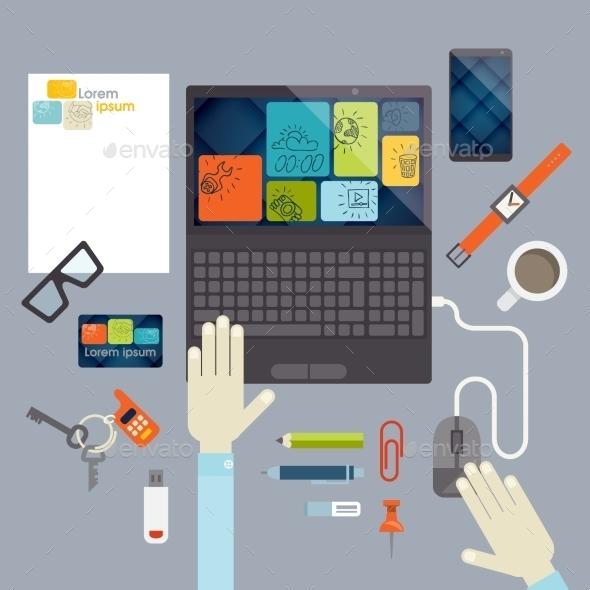 Flat Design Elements - Concepts Business