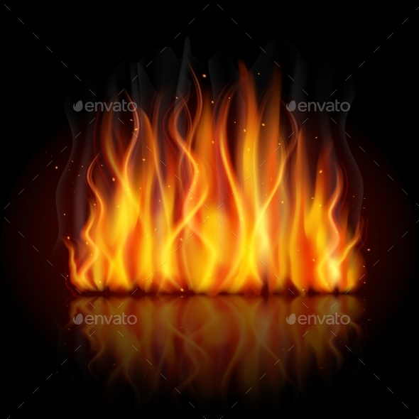 Burning Flame Background - Backgrounds Decorative