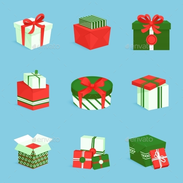 Gift Box Icons Set - Miscellaneous Seasons/Holidays