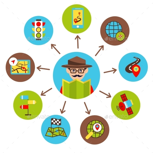 Navigation Icons Illustration - Concepts Business