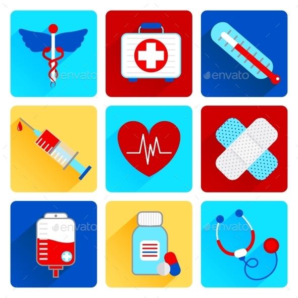 Medical Flat Icons Set - Health/Medicine Conceptual