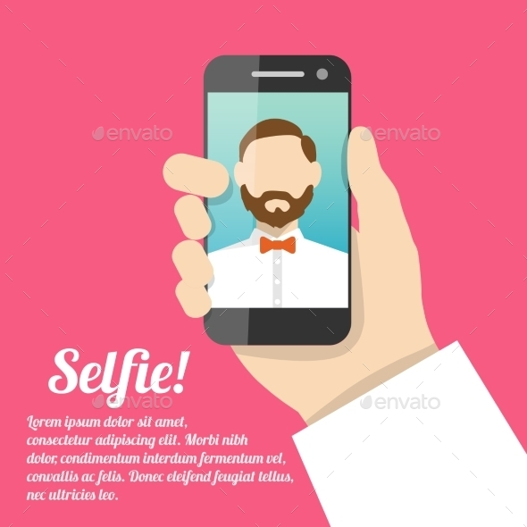 Selfie Self Portrait Poster - Concepts Business