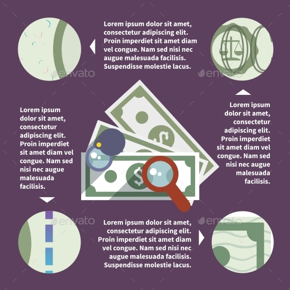 Money Inspect Infographic - Concepts Business