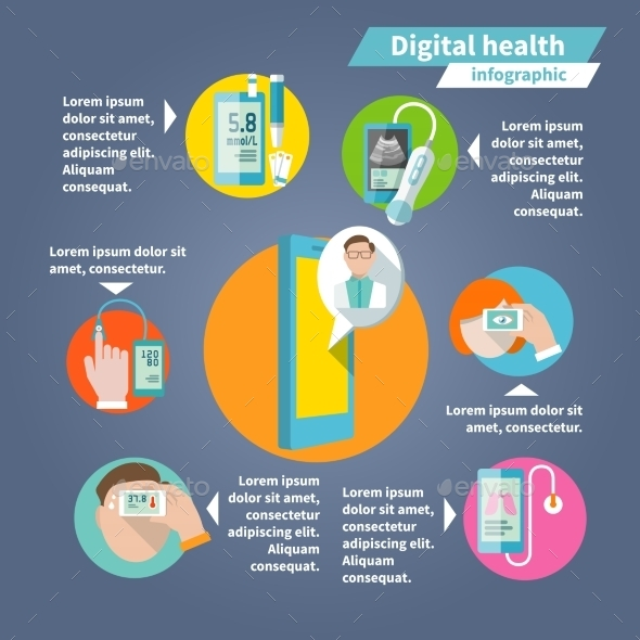 Digital Health Infographics - Health/Medicine Conceptual