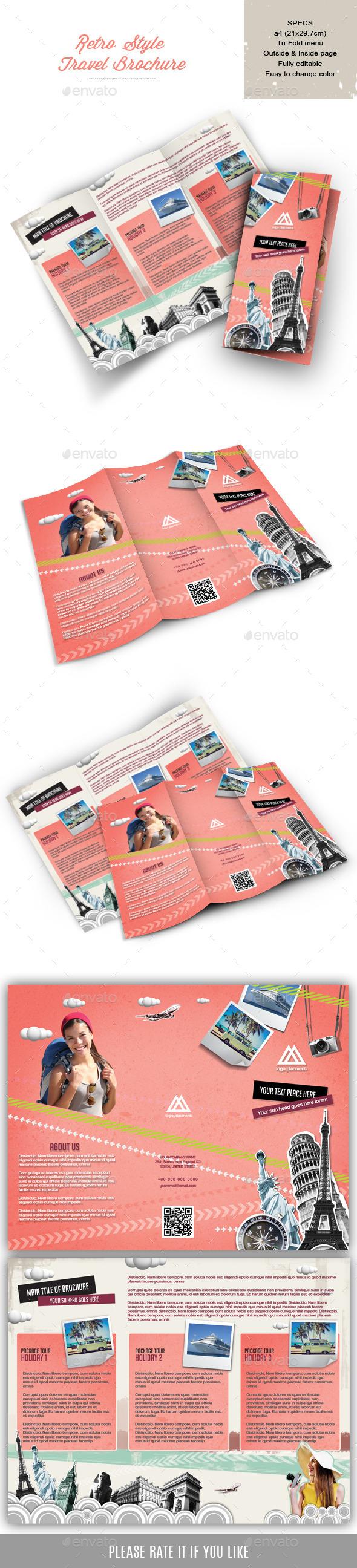 Retro Style brochure for Travel Company - Portfolio Brochures