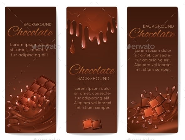 Chocolate Splashes Banners - Food Objects