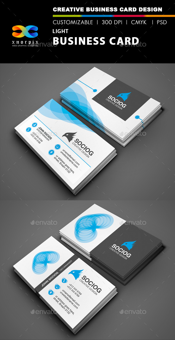 Light Business Card - Corporate Business Cards