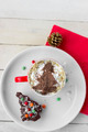 Christmas Dessert and Hot Chocolate. Christmas Background - PhotoDune Item for Sale