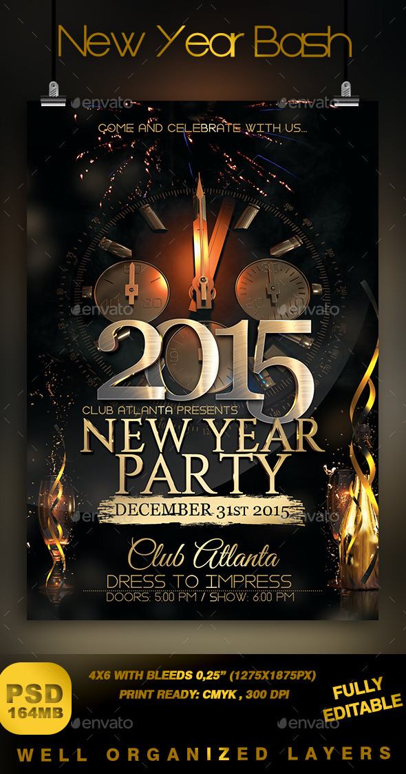 New Year Bash - Events Flyers