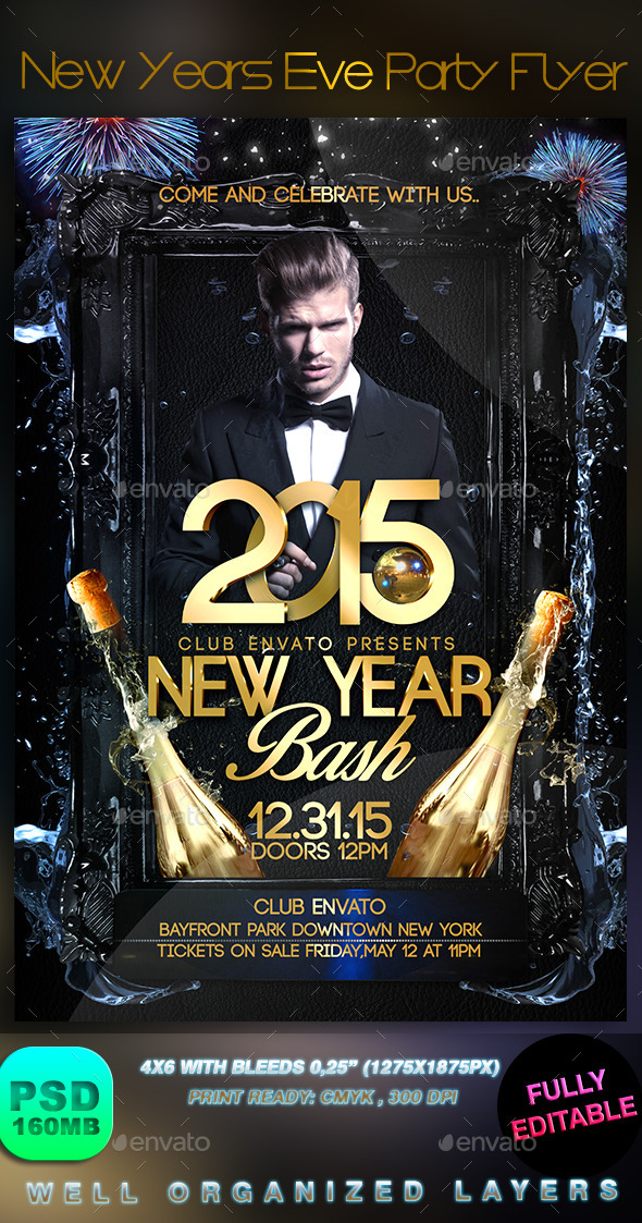 New Years Eve Party Flyer - Events Flyers