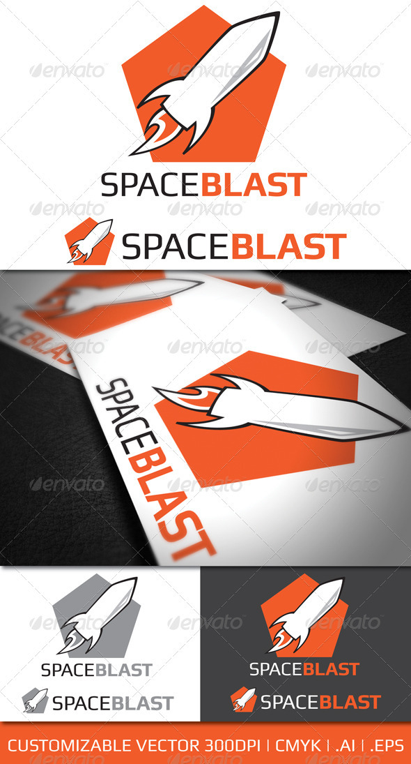 Space Blast Logo Template - Objects Logo Templates