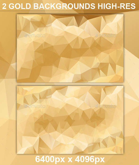 Gold Polygonal Backgrounds High Resolution - Abstract Backgrounds