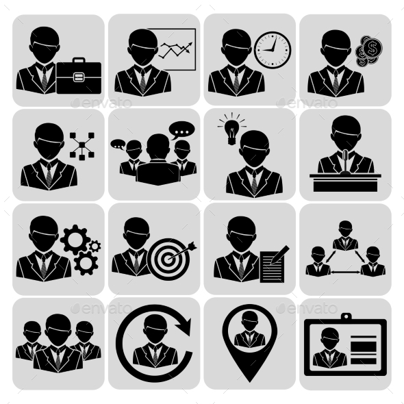 Business and Management Icons Black - Web Technology