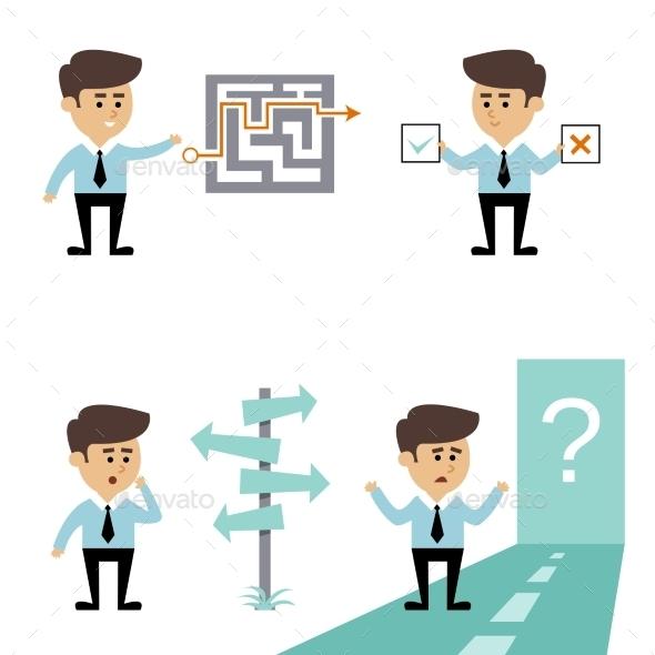 Businessman Search Decision - Concepts Business