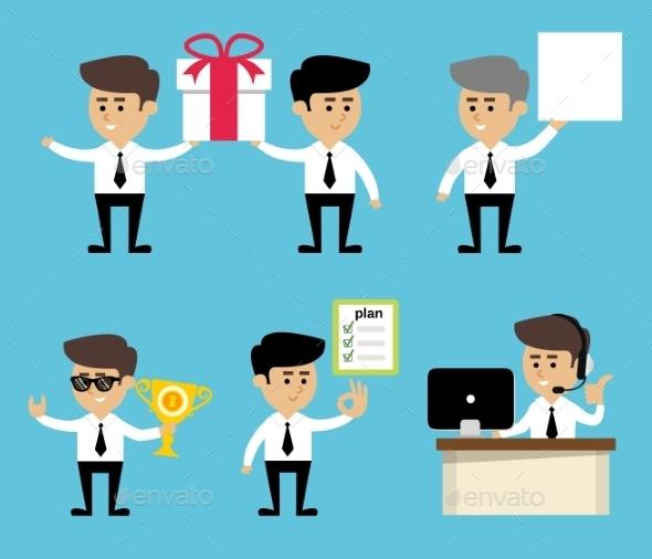 Businessman Poses Set - Concepts Business