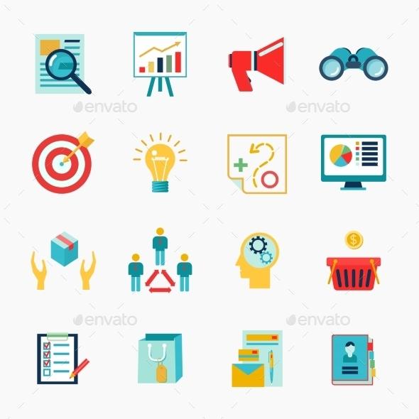 Marketers Flat Icon - Web Technology