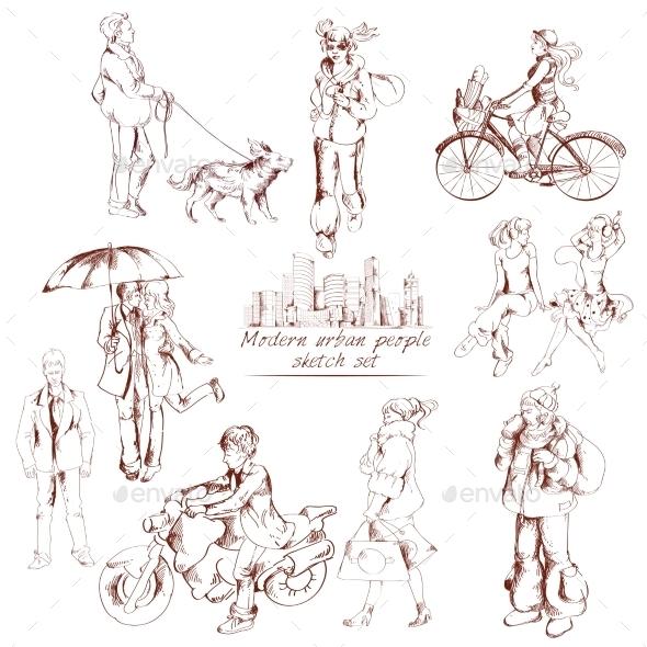 Urban People Sketch - People Characters