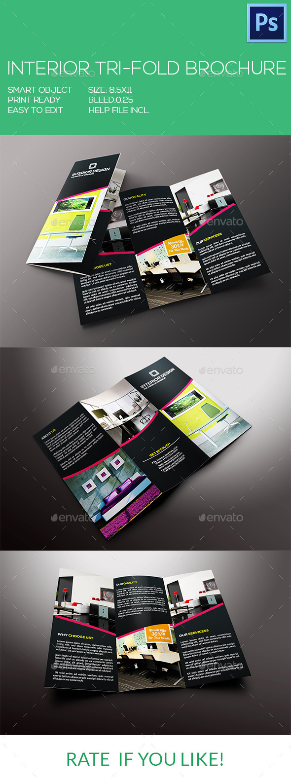 Interior Tri-Fold Brochure - Corporate Brochures