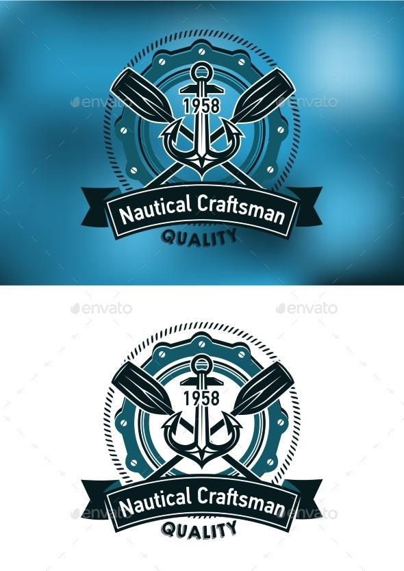 Nautical Craftsman Emblem - Travel Conceptual
