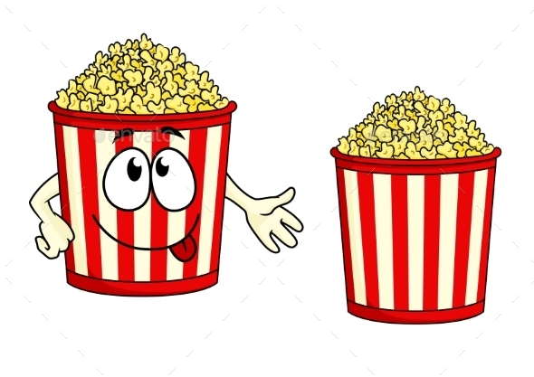 Cartoon Popcorn Character - Miscellaneous Characters
