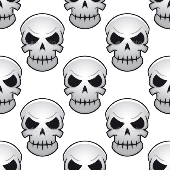 Seamless Pattern of Skulls - Halloween Seasons/Holidays