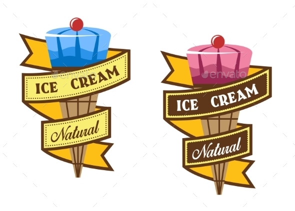 Ice Cream Labels - Food Objects