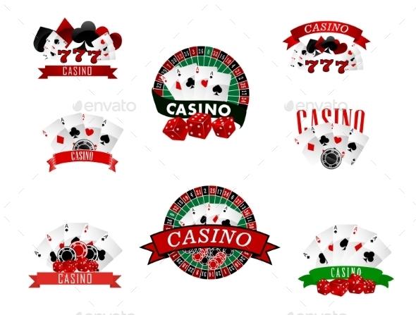 Casino and Gambling Badges - Conceptual Vectors
