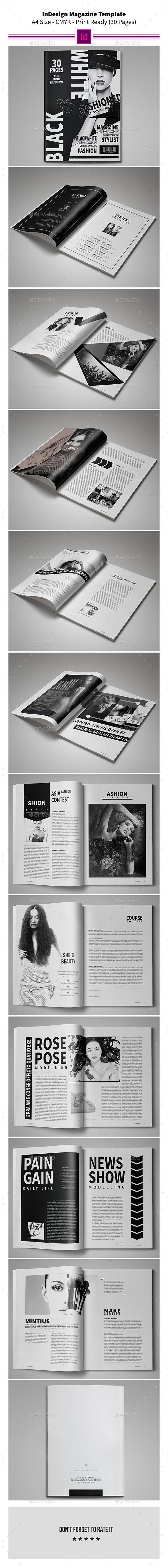 Black & White Magazine Template - Magazines Print Templates