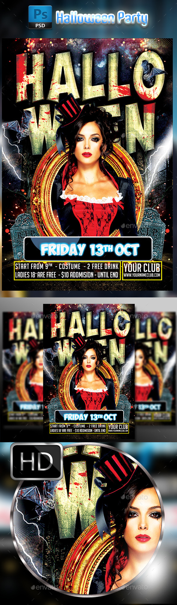 Halloween Party Flyer #3 - Clubs & Parties Events