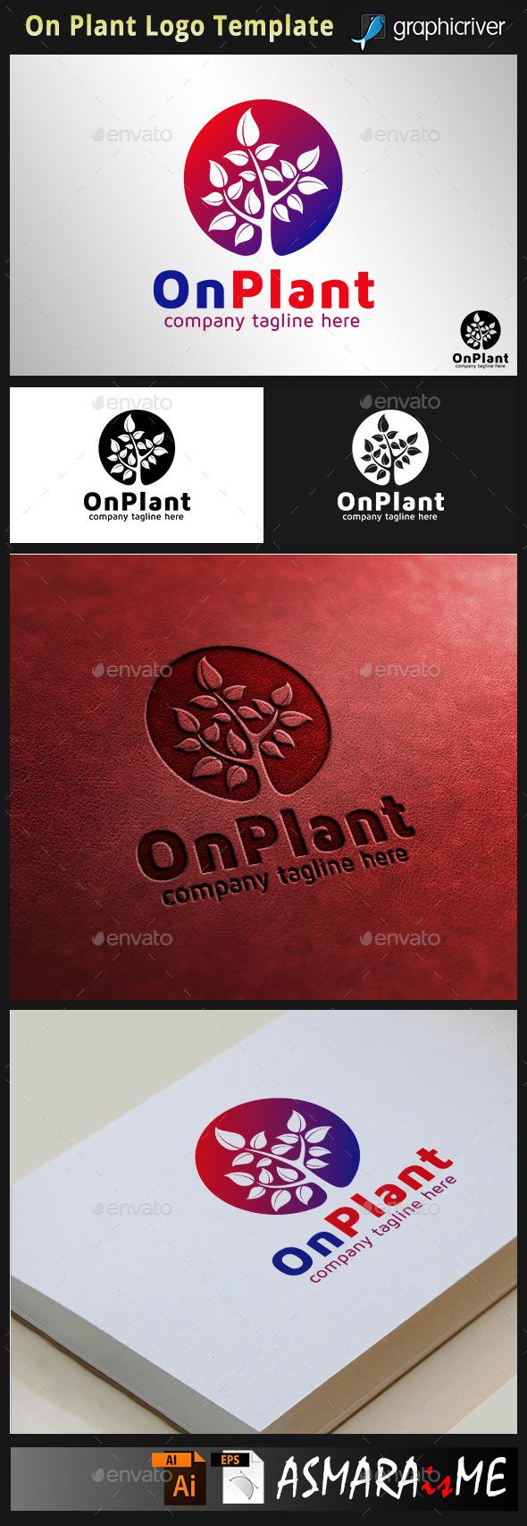 On Plant - Tree Logo - Nature Logo Templates