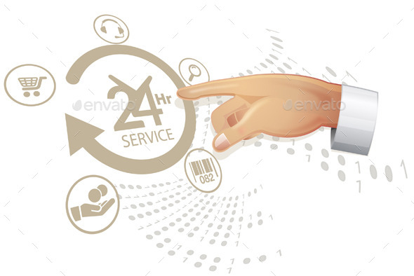 Selecting Reliable Service Solution - Illustration - Concepts Business