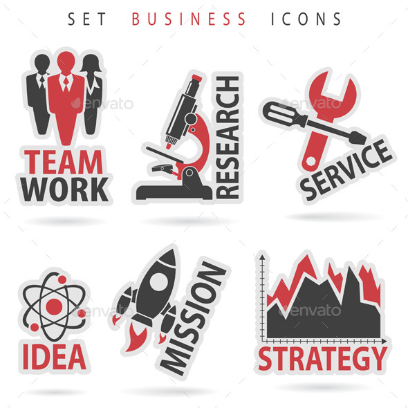 Set Business Icons - Concepts Business