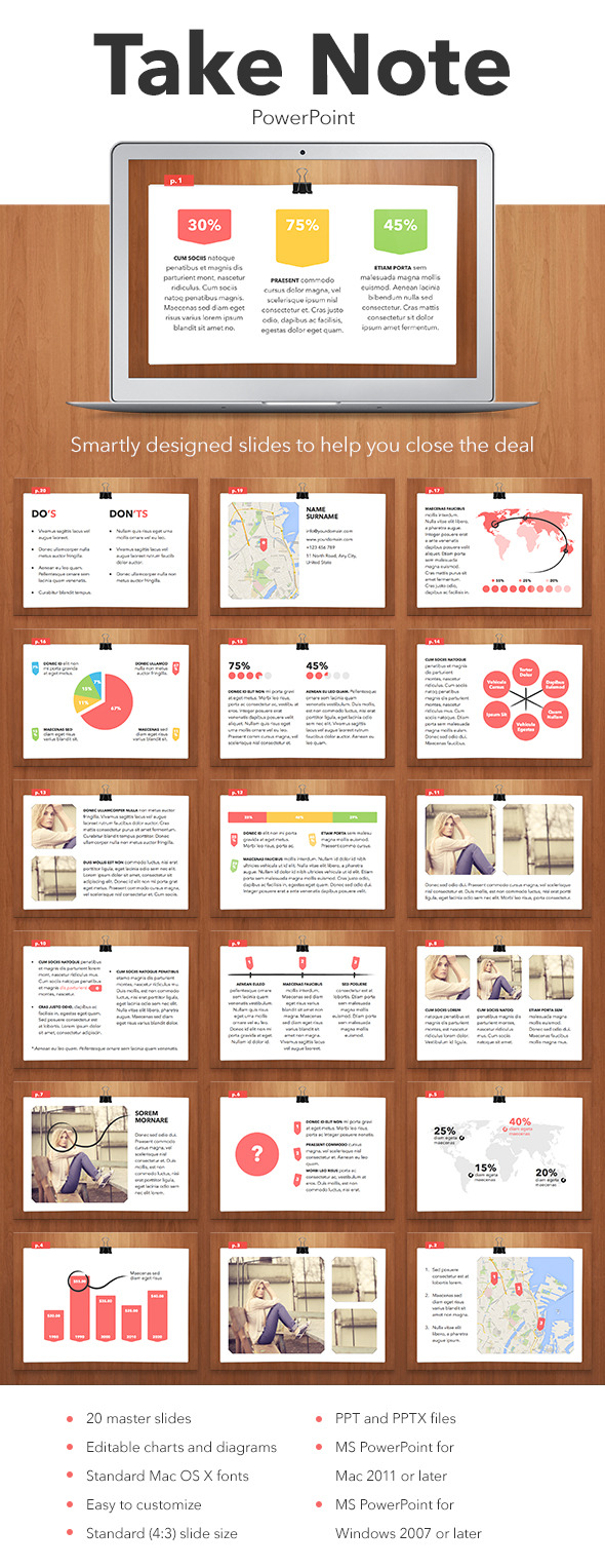 Take Note PowerPoint Template - PowerPoint Templates Presentation Templates