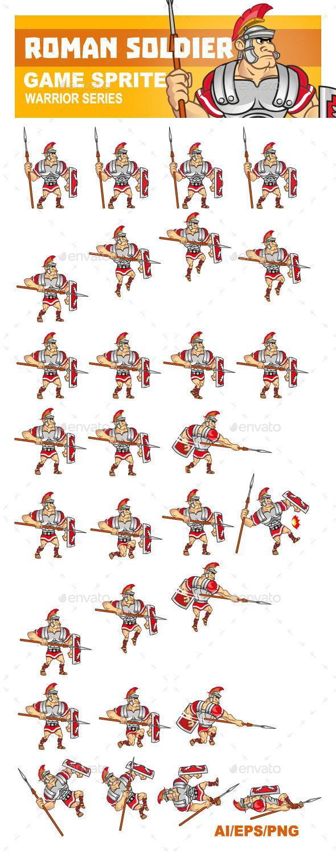 Roman Soldier Sprite - Sprites Game Assets