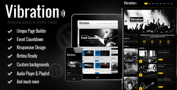 Vibration – Responsive Music & Events Theme
