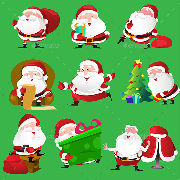 Santa Claus Icons - Christmas Seasons/Holidays