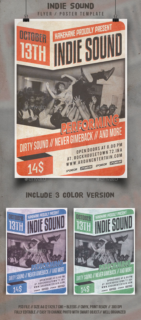 Indie Sound Flyer Template - Events Flyers