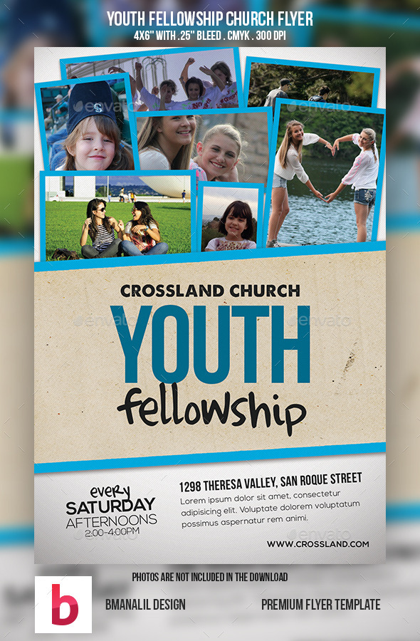Youth Fellowship Church Program - Church Flyers