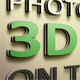Realistic 3D Text on the Wall Mockup - GraphicRiver Item for Sale