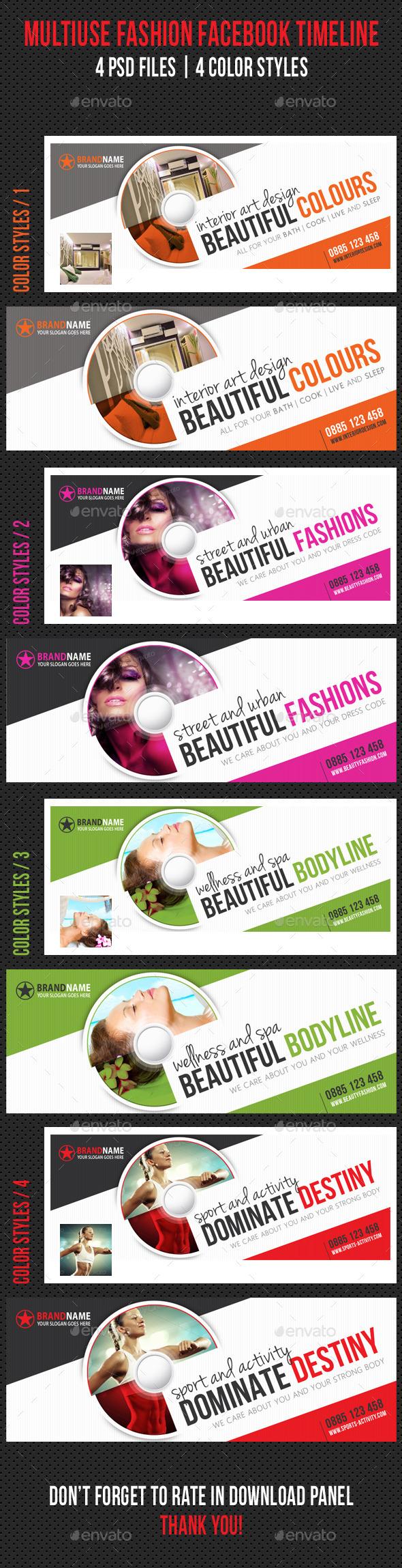 Multiuse Fashion Facebook Timeline - Facebook Timeline Covers Social Media