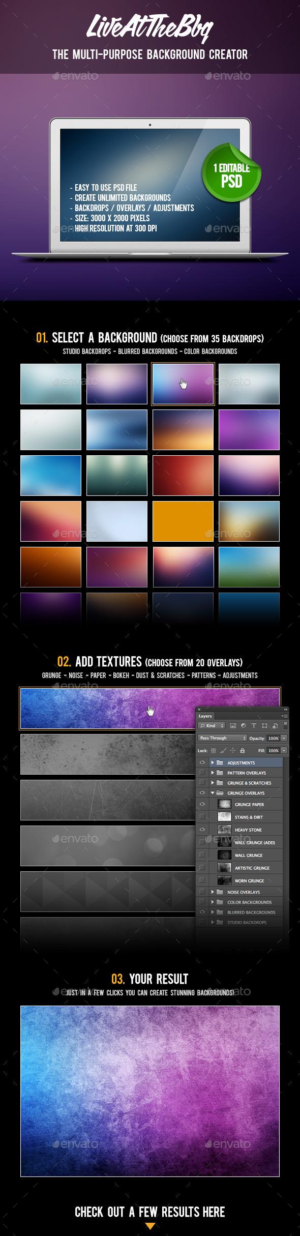 Multi-Purpose Background Creator - Backgrounds Graphics