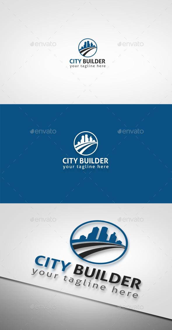 City Builder  - Buildings Logo Templates