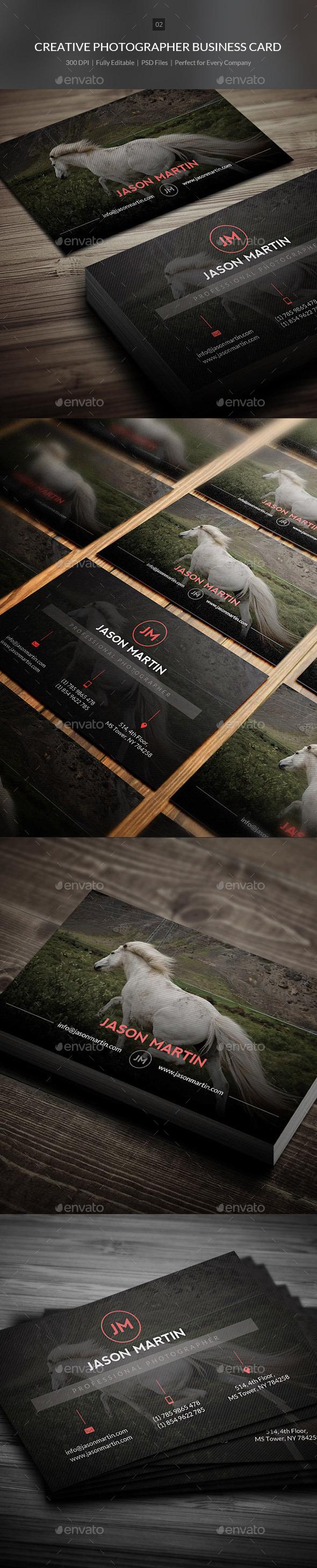 Creative Photographer Business Card - 02 - Creative Business Cards