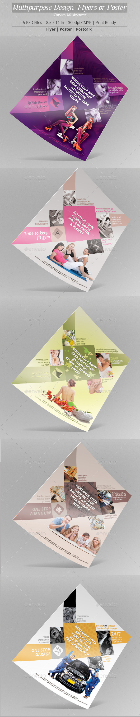 Multipurpose Design Flyer or Poster Template - Flyers Print Templates