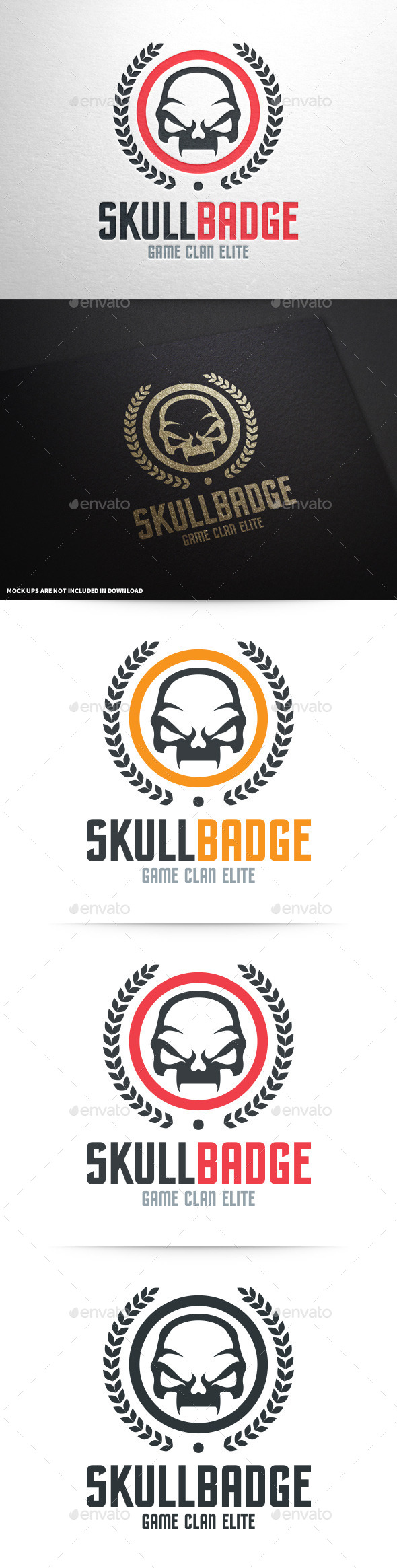 Skull Badge Logo Template - Crests Logo Templates