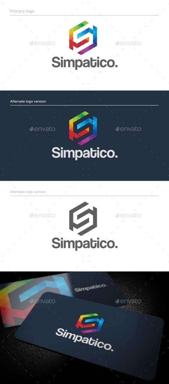Simpatico / S Letter - Logo Template - Letters Logo Templates