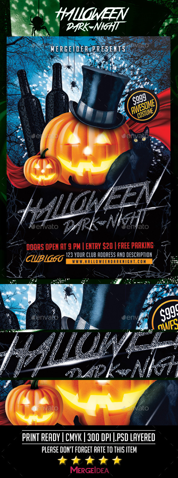 Halloween Dark Night Flyer - Clubs & Parties Events