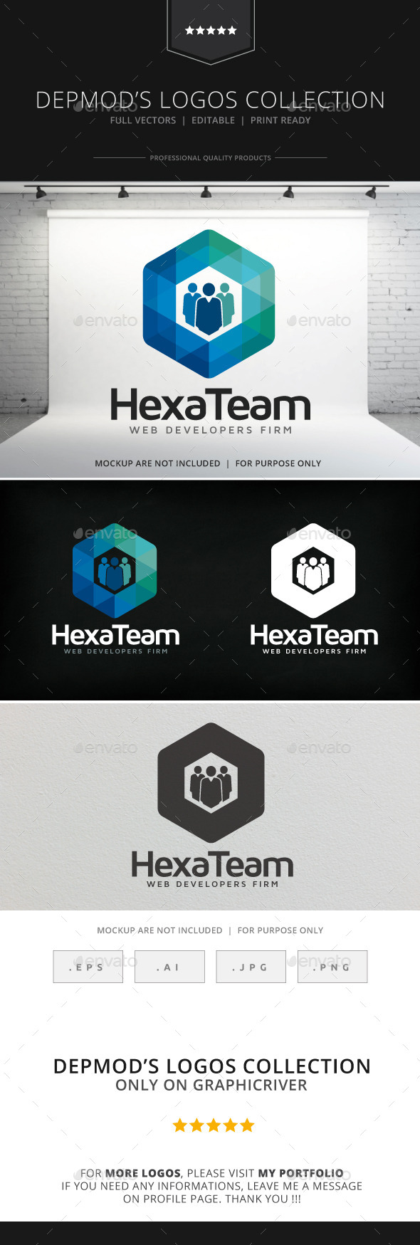 Hexa Team Logo - Symbols Logo Templates